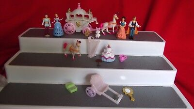Vintage Polly Pocket Snow White Princess Prince Horse & Cart Carriage Figures