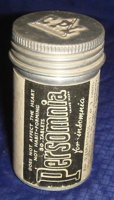 ML163 Vtg Persomnia For Insomnia Tin Container