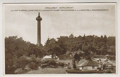 Wales postcard - Anglesey Monument