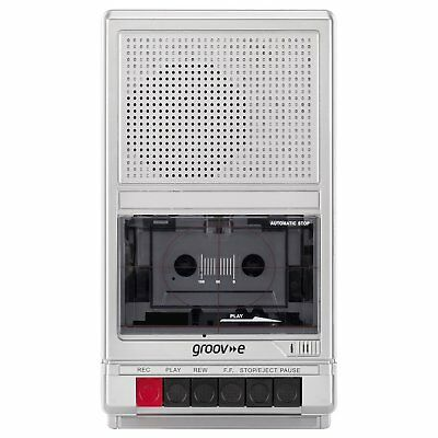 Groove Retro Portable Cassette Player & Recorder Shoebox Tape Player GVPS550SR
