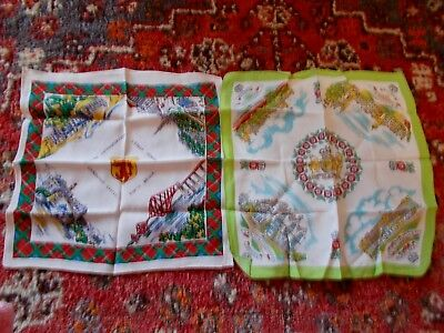 12 Vintage Hankerchiefs~Flags~Royalty~Scotland~Embroidered~Mabel Lucie Attwell