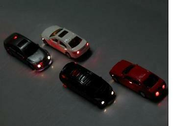 EC100 4pcs Head Light Model car 1:87 Scenery HO 12V