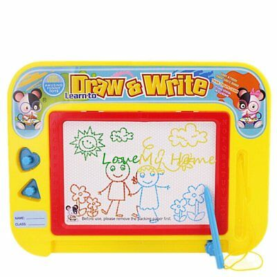 Kids Drawing Board Magnetic Writing Sketch Pad Erasable Magna Doodle children TU