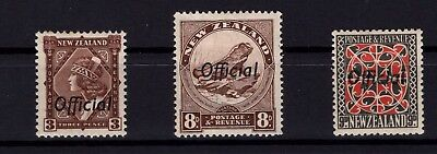 P38746/ New Zealand / Official / Y&t # 76 – 78A / 79 Neufs * / Mh 96 €
