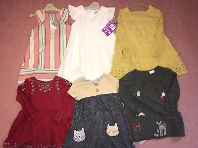 Next Girls Dresses Bundle 2-3 Years Some BNWT White Red Yellow Embellished