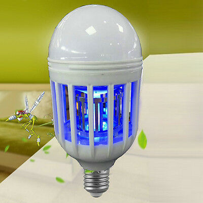 E27 Anti-Mosquito Flying Insects Moths Killer Blue LED Insect Zappers Light Bulb