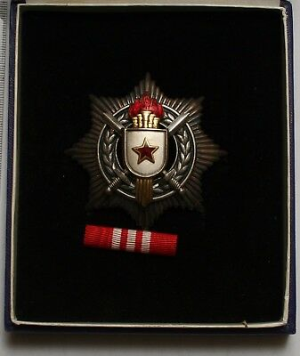 YUGOSLAVIA Order of Military Merit with Silver Swords 3 rd Class in orig. case
