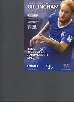 PROGRAMME - GILLINGHAM v SOUTHEND UNITED - CHECKATRADE TROPHY - 29 AUGUST 2017