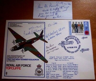 Unique-Raf Sc26 Multi Signed Raf Topcliffe Cover - See Scans