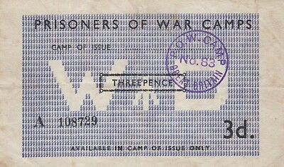 2nd World War Prisoners of War Camp No83 Bank Note Violet POW Camp 83 GB Cance