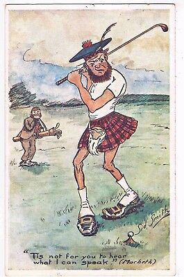 "Comic Golf  - ""tis Not For You To Hear What I Can Speak"" (Macbeth), 1907"