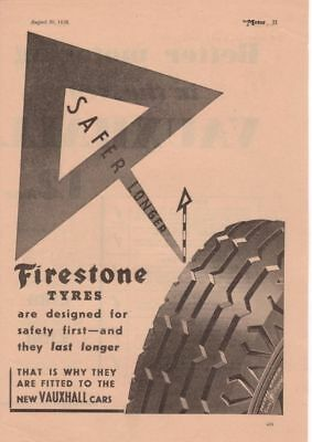 RF1990 Vtg The AutoCar Magazine Ad 1938 Firestone Tire Co.