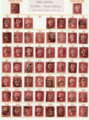 1d Reds Full Set Of Plates Barring 77,153 & 225-3 scans(1)
