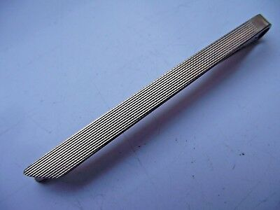 Vintage 9 Ct Gold On Silver Tie Clip Detailed Machine Work Design See Pictures