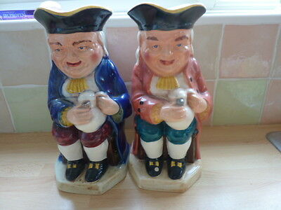 Two Burlington Ware Very Large Toby Jug - 'Boozer' Different Colourways