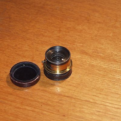 6 inch f7.7 BRASS vintage LENS GOERZ Double Anastigmat ROSS LONDON click stops