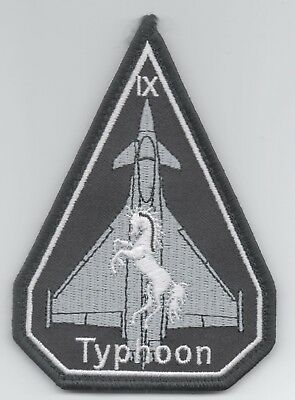 Italian Air Force IX Gruppo Eurofighter spearhead patch, hook and loop backing