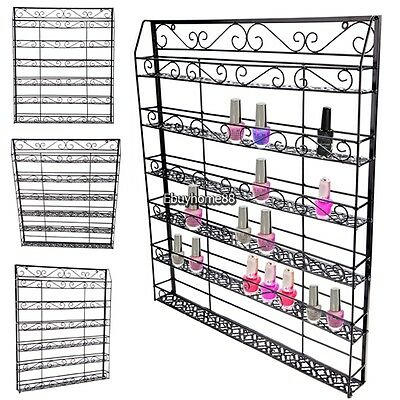 Metal Iron Nail Polish Display Organizer Wall Rack up to 50-180 Bottle Free Ship