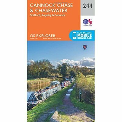 OS Explorer Map (244) Cannock Chase - Map NEW Ordnance Survey 2015-09-16