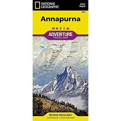 Annapurna adv. ng r/v (r) Nepal: National Geographic Ad - Map NEW National Geogr
