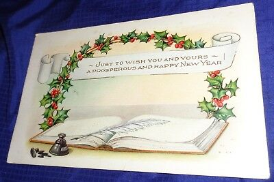 RP1683 Vtg Happy New Year PostCard 1918 Clifford Toronto ON Harkness