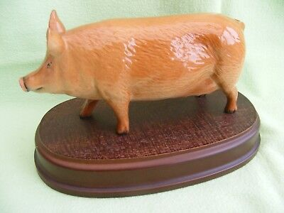Royal Doulton Beswick Tamworth Sow Pig on Wooden Stand DA 215