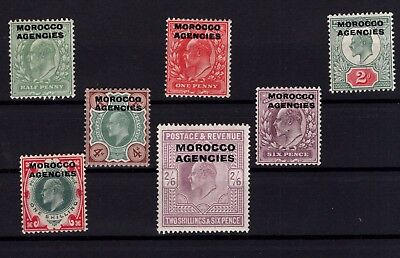 P45030/ British Morocco All Officies / Y&t # 1 / 7 Mh 200 €