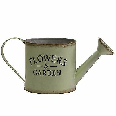 Metal watering can decorative floristry container or vase galvanised rustic