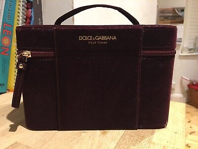 Beautiful Deep Red Velvet Jewellery Case By Dolce & Gabbana, Superb Condition