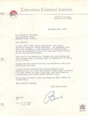 RP804 Vtg Carnation Milk Co. Original Letter 1966