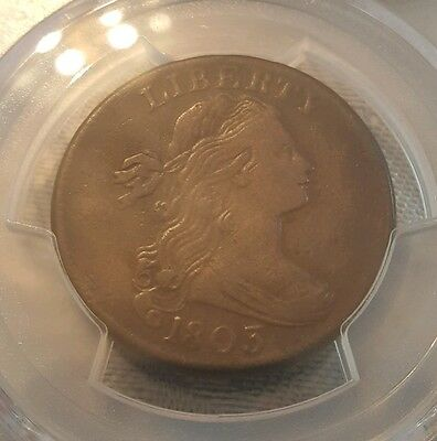 1803 Draped Bust Large Cent - Pcgs Fine Details - Small Date Small Fraction!!!