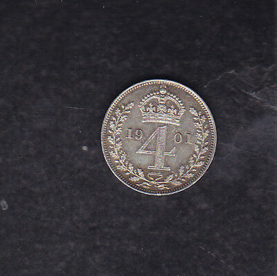 1901 Great Britain Silver 4 Pence