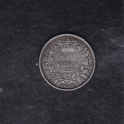 1839 Great Britain Silver 6 Pence