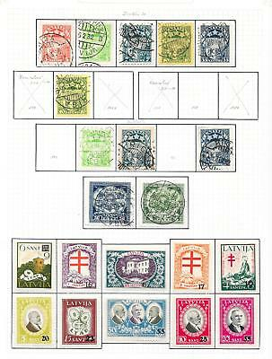 Latvia stamps 1929 Collection of 21 stamps ATTRACTIVE!
