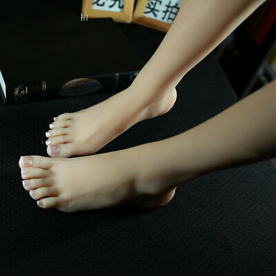 NEW Silicone Female Legs Feet Shoes Socks Display Model Mannequin Size 39