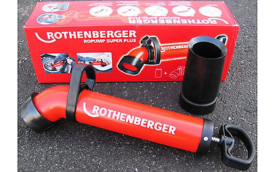 Rothenberger Ropump 72070 Super Plus Force Pump Drain Cleaning Tool