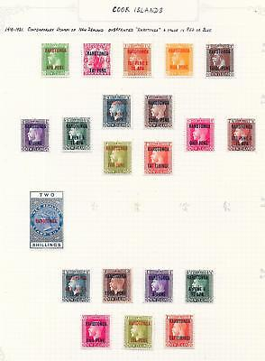 Cook Islands stamps 1919 Collection of 21 CLASSIC stamps HIGH VALUE!