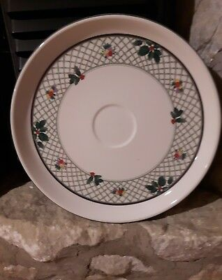 MIKASA HERITAGE Christmas Story large plate platter chips and dip plate EUC
