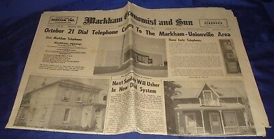 SE331 Vtg Markham ON Economist & Sun Newspaper Oct 18 1962