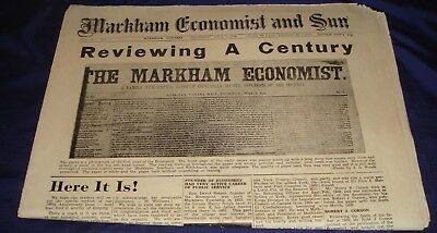 SE332 Vtg Markham ON Economist & Sun Newspaper July 5 1956