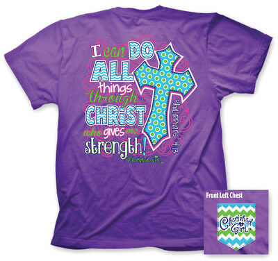 I Can Do All Things Shirt, Purple, Large