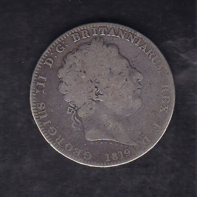 1819 Lx Great Britain Silver Crown