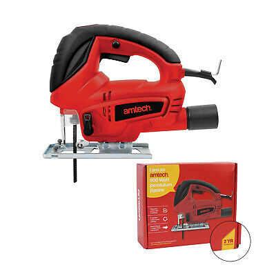 AMTECH 600W ELECTRIC PENDULUM CUTTING JIGSAW c/w DUST EXTRACTION 2 YEAR WARRANTY