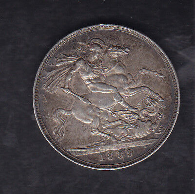 1889 Great Britain Silver Crown