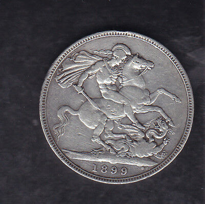 1899 Lxii Great Britain Silver Crown