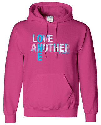 Love One Another Hooded Sweatshirt, Pink, Small