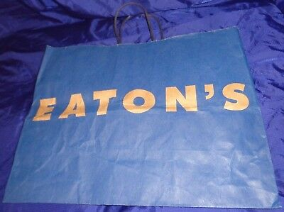 SE564 Vtg T. Eaton Co Ltd Department Store Paper Shopping Bag Ad