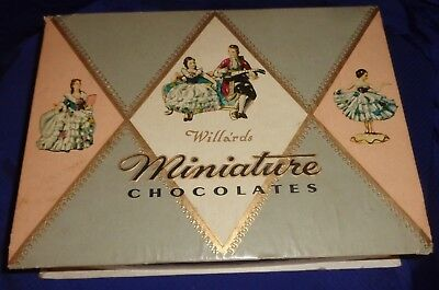 SE566 Vtg Willards Miniature Chocolates Box Ad Toronto ON