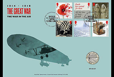 Great Britain 2017 - The First World War - 1917 Coin Cover