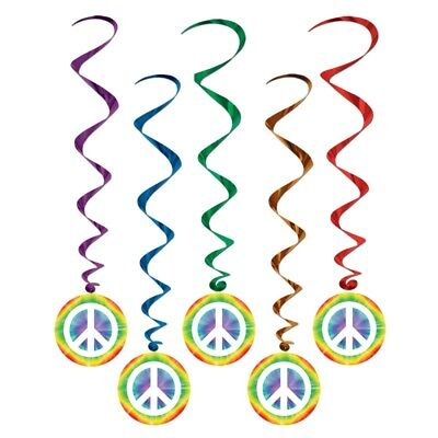 Guirlandes Hippie peace and love (x5)
